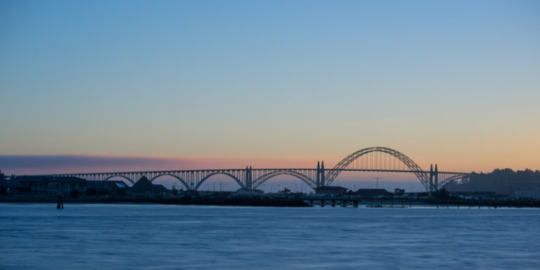 The Newport Bay Bridge